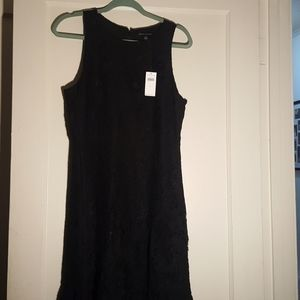 NWT Banana Republic lace black dress size 12